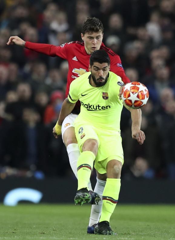 Luis Suarez na meču protiv Mančester junajteda