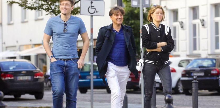Mariusz Treliński zabrał kobietę i syna na obiad