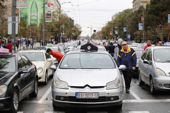 Taksi protest, četvrti dan