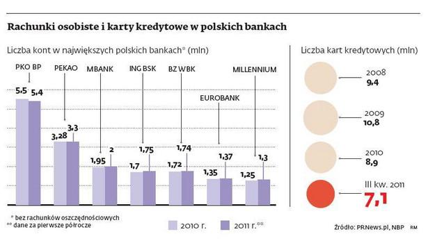 Rachunki osobiste i karty kredytowe w polskich bankach, fot. DGP