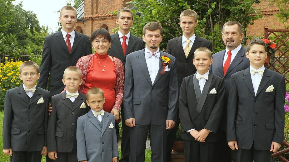 Państwo Szkudlarek mają dziewięciu synów