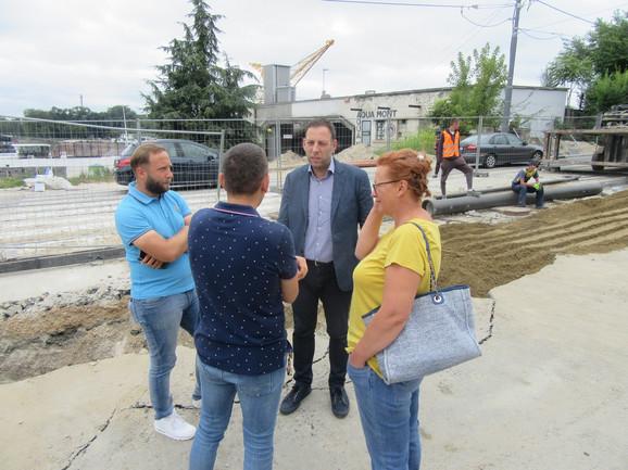 Marko Stojčić u Karađorđevoj ulici