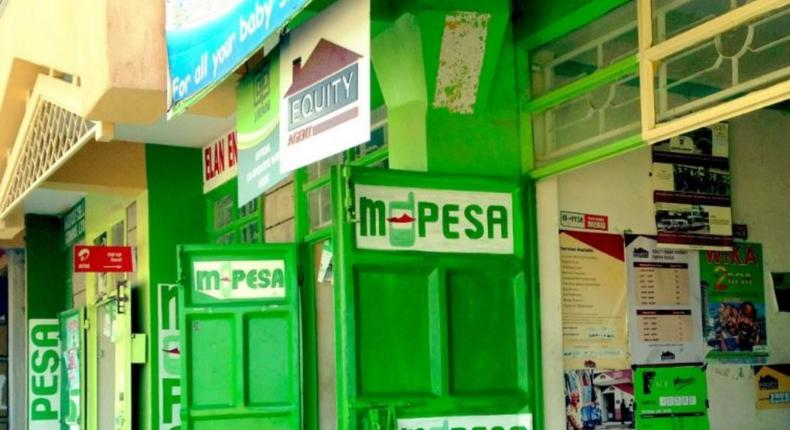 File image of M-Pesa agents' premises. Safaricom has announced a scheduled outage of M-Pesa services on June 18, 2020