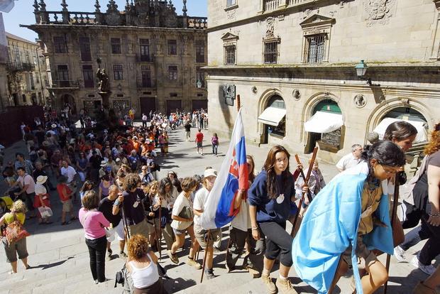Pielgrzymi w Santiago de Compostela