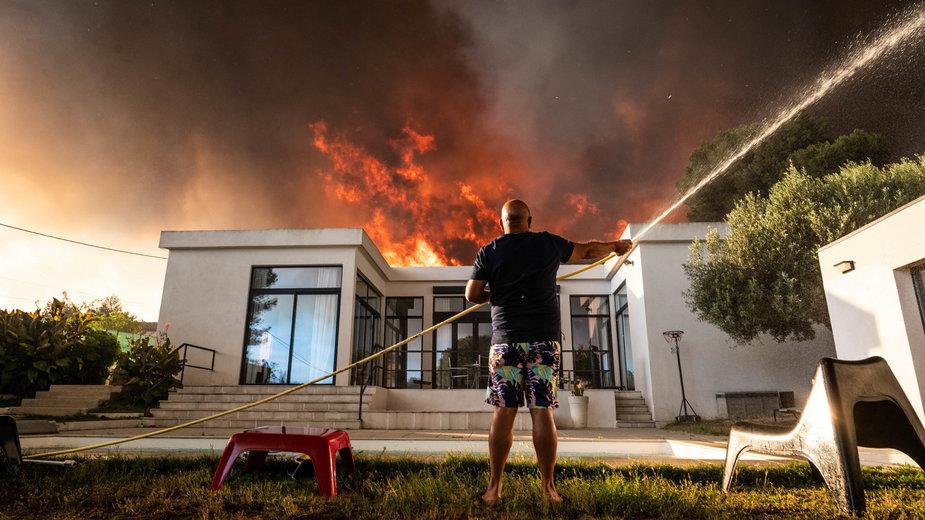 Pożar pod Marsylią