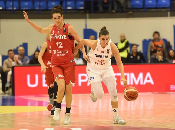 Ženska košarkaška reprezentacija Srbije, ženska košarkaška reprezentacija Turske