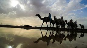 Gwałtowne deszcze i burze na pustyni w Emiratach