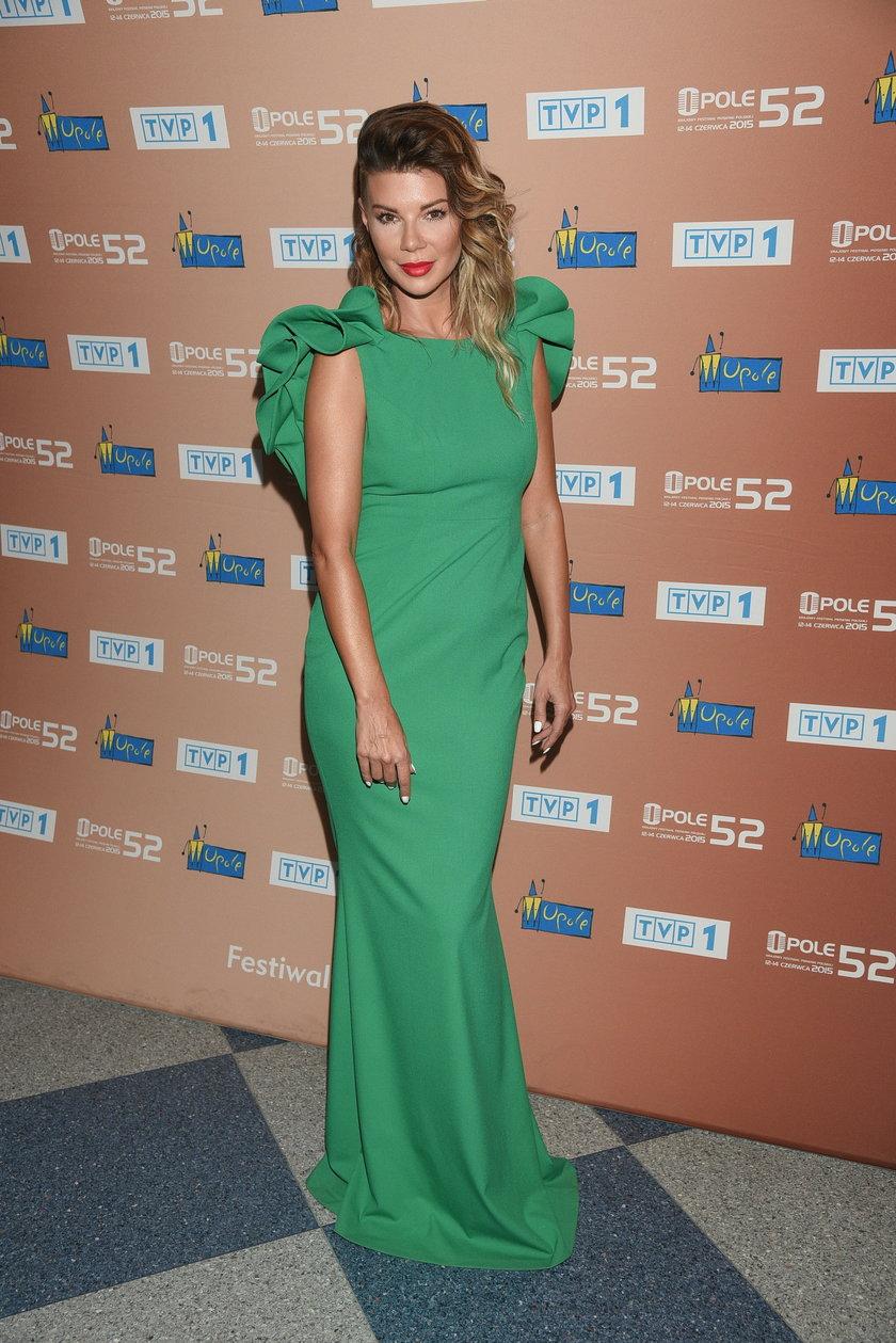 Edyta Górniak w zielonej sukni