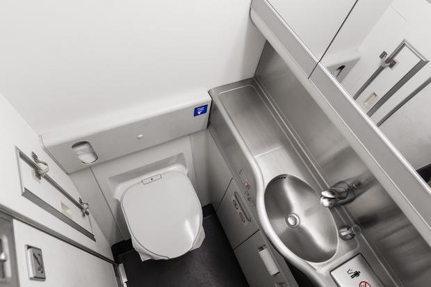 Łazienka w samolocie