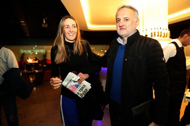 Zoran Gajić, predsednik OSS-a, i Maja Ognjenović, tehničar naše nacionalne selekcije