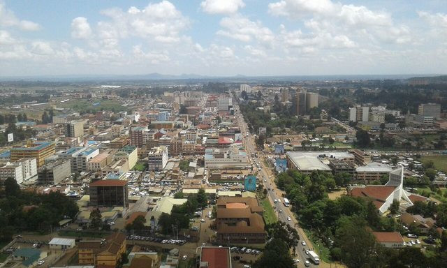 A bird's view of Eldoret town