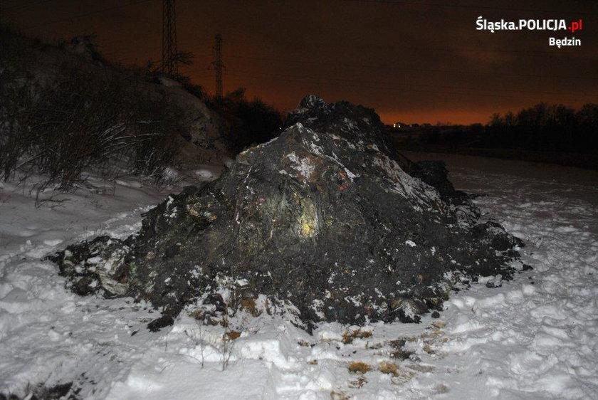 Niebezpieczne odpady niedaleko polskiej rzeki