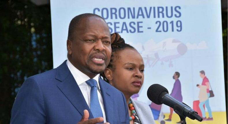 Heath CS Mutahi Kagwe and CAS Mercy Mwangangi