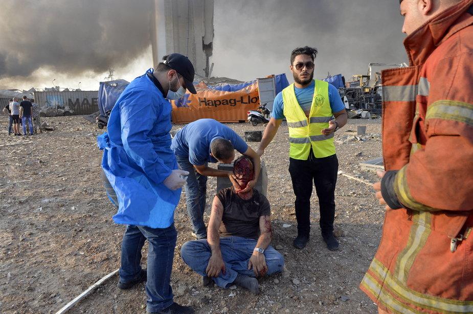 Skutki eksplozji w Bejrucie