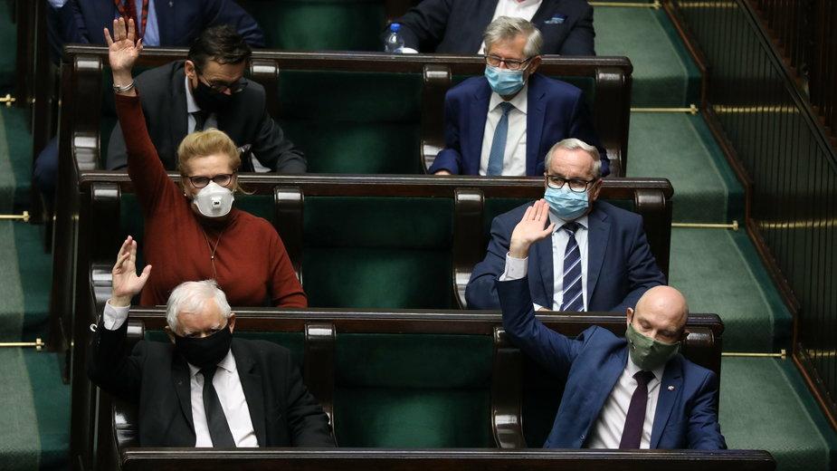 Sejm w czasie głosowania nad ustawą