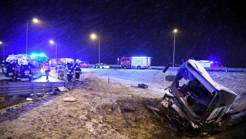 miejsce wypadku na A4