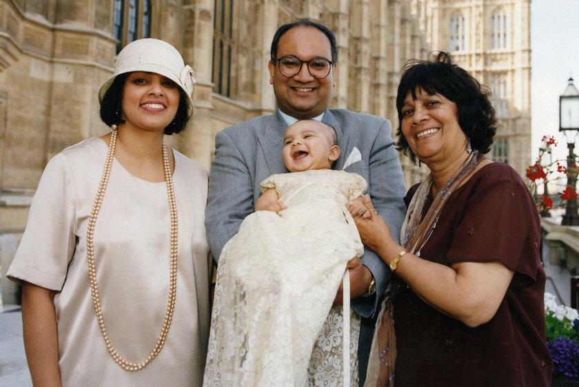 Keith Vaz z rodziną