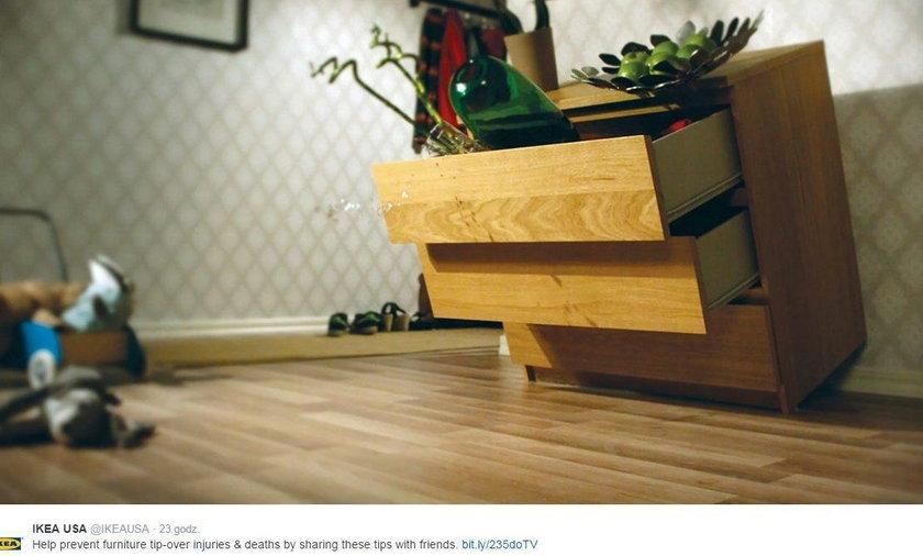 Po śmierci trojga dzieci Ikea wycofuje komody