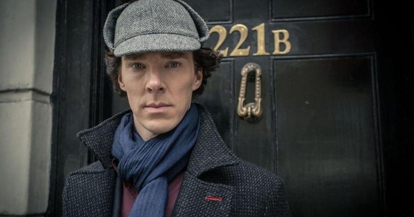 Benedict Cumberbatch jako serialowy Sherlock Holmes