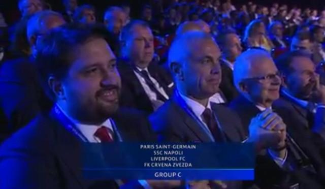 Delegacija Crvene zvezde na žrebu u Monaku