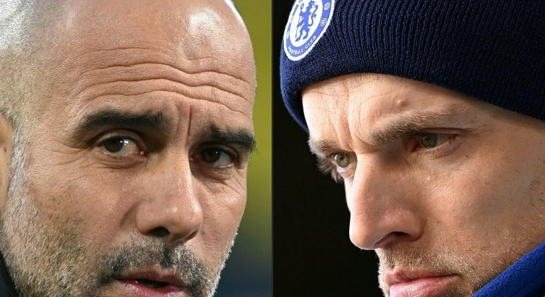 Pep Guardiola (left) is preparing to lock horns with Thomas Tuchel in the Premier League Creator: Ina Fassbender