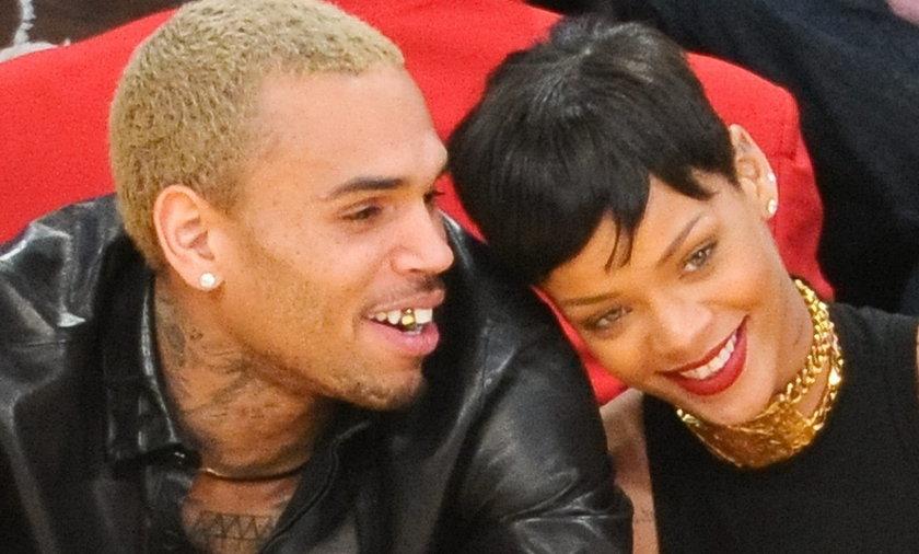Rihanna i Chris Brown na meczu
