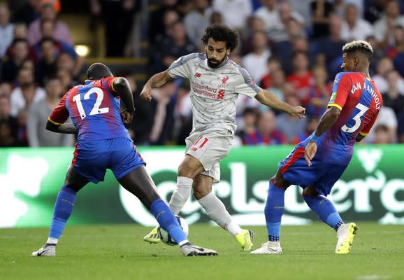 Mohamed Salah na meču sa Kristal Palasom