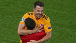 Aaron Ramsey scored his 17th goal in 65 Wales appearances in the Turkey win Creator: DAN MULLAN