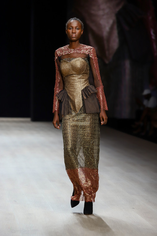 Odio Mimonet's AW19 show is a tale of two women; Mimi and Odio, and a celebration of the multifaceted modern African woman [Credit: Arise Fashion Week]