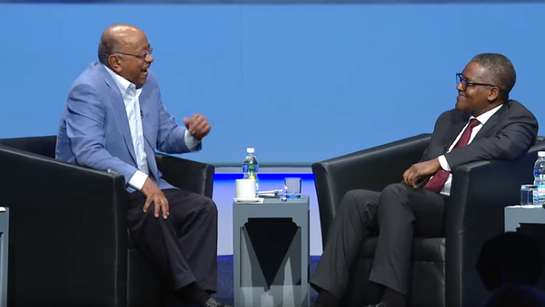 Mo Ibrahim in conversation with Aliko Dangote
