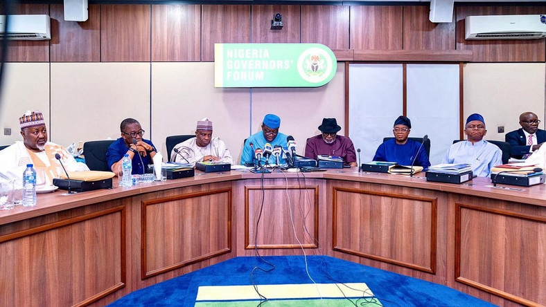 Nigeria Governors' Forum Governors agree on two-week national lockdown to curb the spread of coronavirus in Nigeria.[Twitter/@IAOkowa]