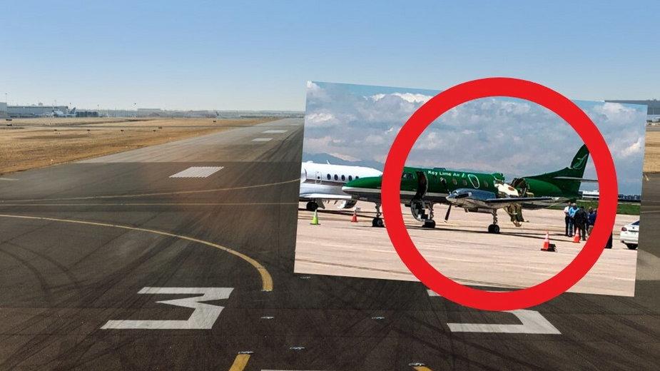 Zderzenie dwóch samolotów