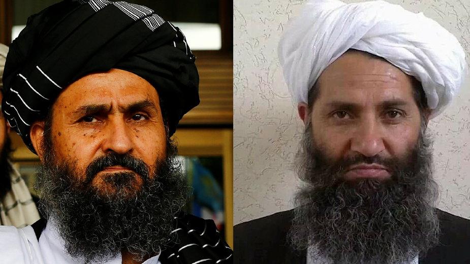 Przywódcy talibów Mullah Baradar i Haibatullah Akhundzada (fot. Taliban/AFP)