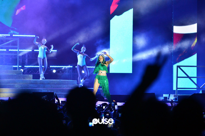 Cardi B In Lagos: Pictures From LiveSpot X Festival. (Pulse Nigeria)
