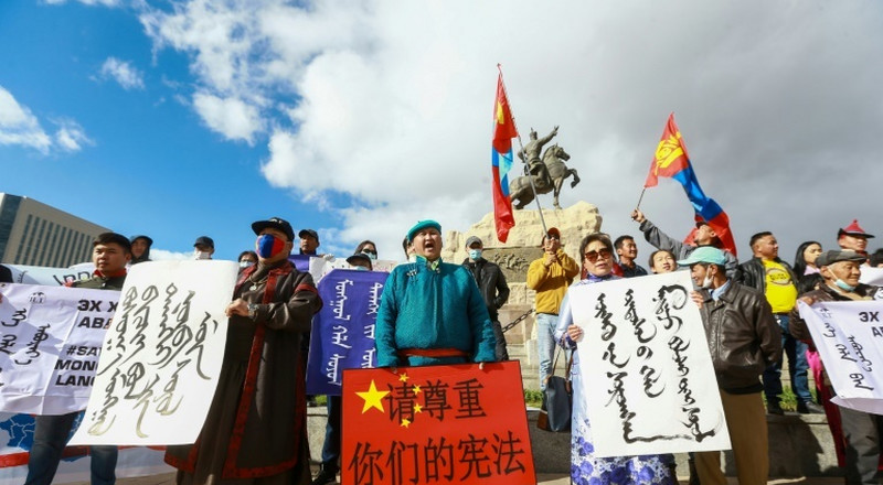 Chinese foreign minister visit prompts Mongolian protests
