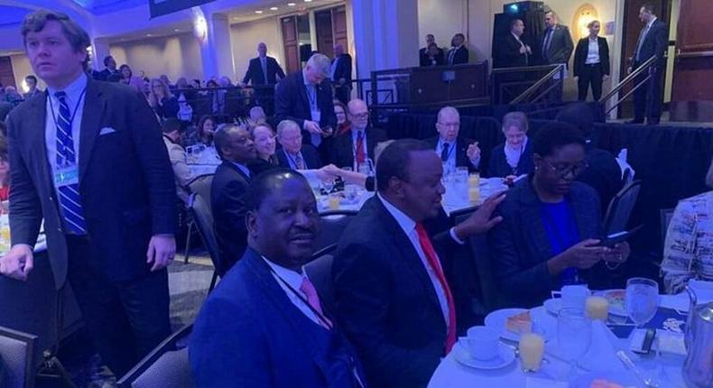 Raila Junior mocks his sister Rosemary Odinga over conduct conduct at Washington DC  VIP table
