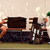 SLIKA ZA ISTORIJU Najbolji sa budućim NAJBOLJIM NA SVETU! Baš njega je Novak Đoković odabrao za sparing partnera za trening na Dorćolu /FOTO/