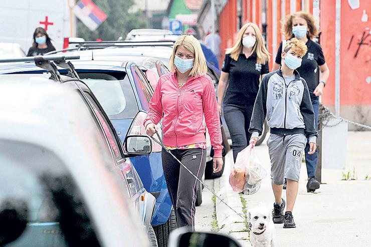 maske na ulici