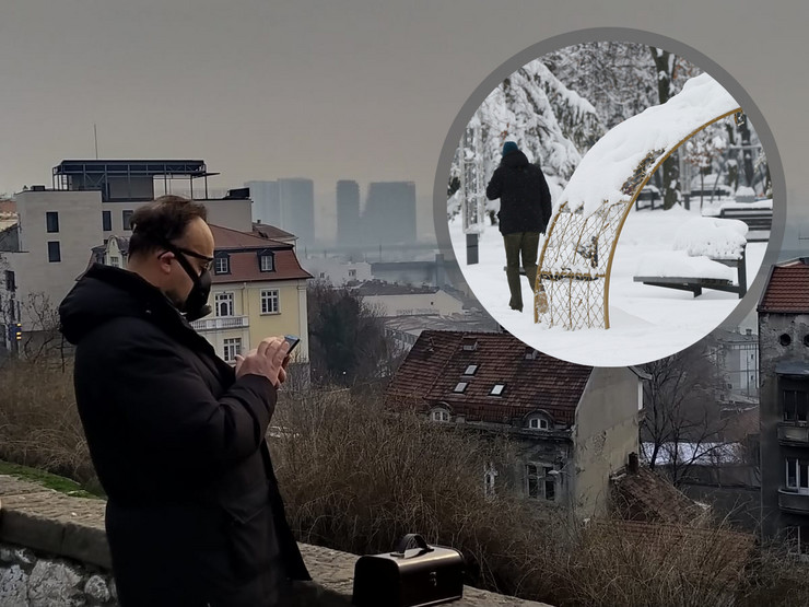 Kombo, lepo vreme, Beograd, 26. 1.