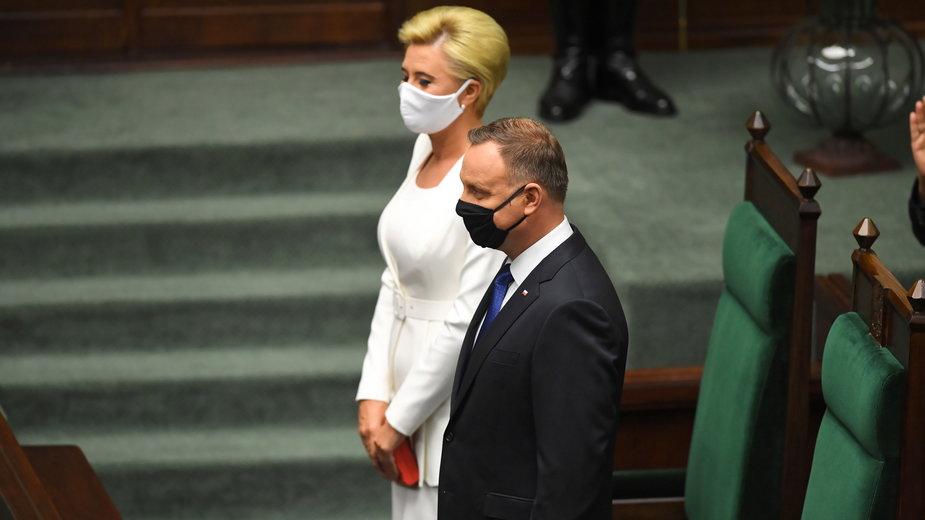 Andrzej Duda i Agata Kornhauser-Duda w Sejmie