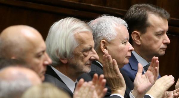Joachim Brudziński, Ryszard Terlecki, Jarosław Kaczyński i Mariusz Błaszczak