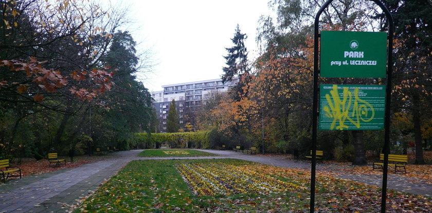 Park przy Leczniczej imieniem Adama Szczerbowskiego?
