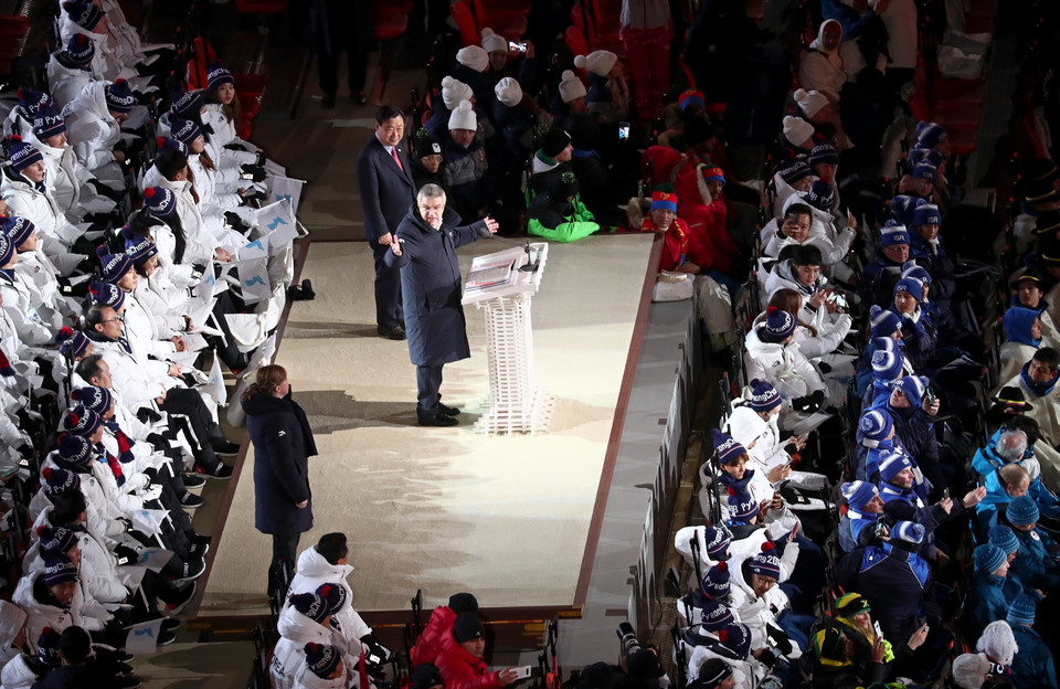 epa06508400 - SOUTH KOREA PYEONGCHANG 2018 OLYMPIC GAMES (Opening Ceremony - PyeongChang 2018 Olympic Games)