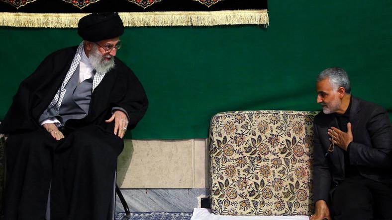 Ajatollah Ali Chamenei i generał Kasem Sulejmani
