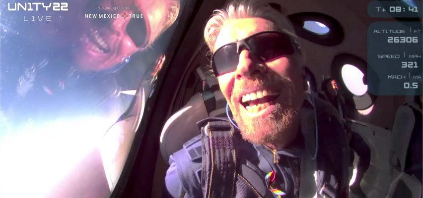 Turyści w kosmosie. Miliarder Richard Branson spełnił swoje marzenie!