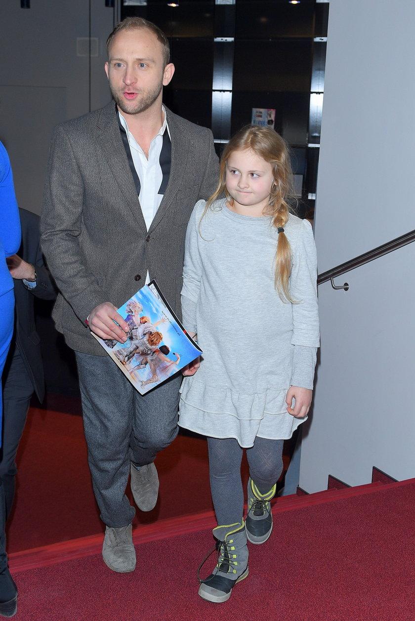 Borys Szyc i córka Sonia