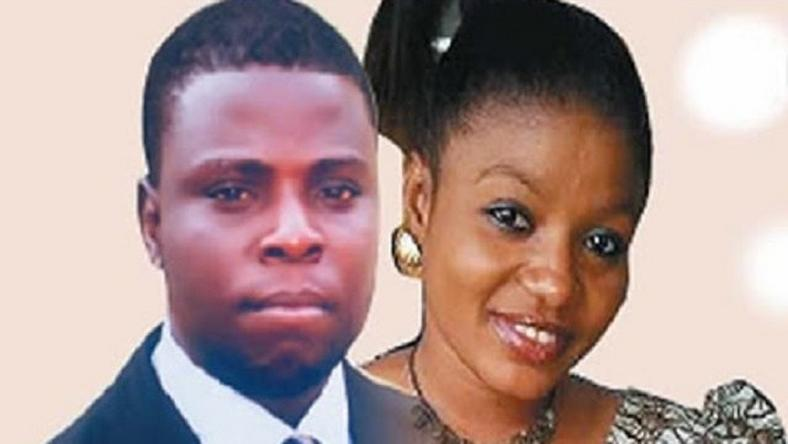 The suspect, David Ogundele and the late Tosin Ashinwo