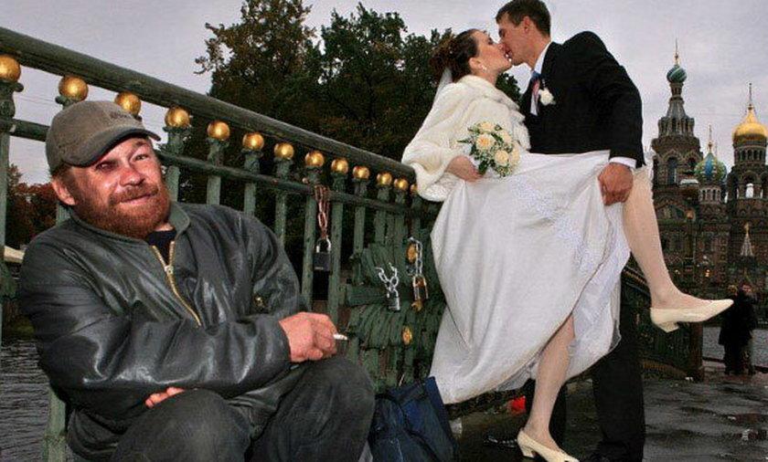Jak wesele to tylko na Wschodzie. Straszne zdjęcia ślubne.