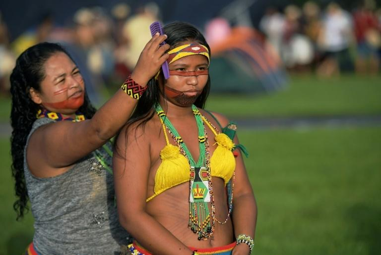 There are more than 800,000 indigenous people and more than 300 different tribes in the country of 209 million people, according to Brazil's FUNAI indigenous affairs agency