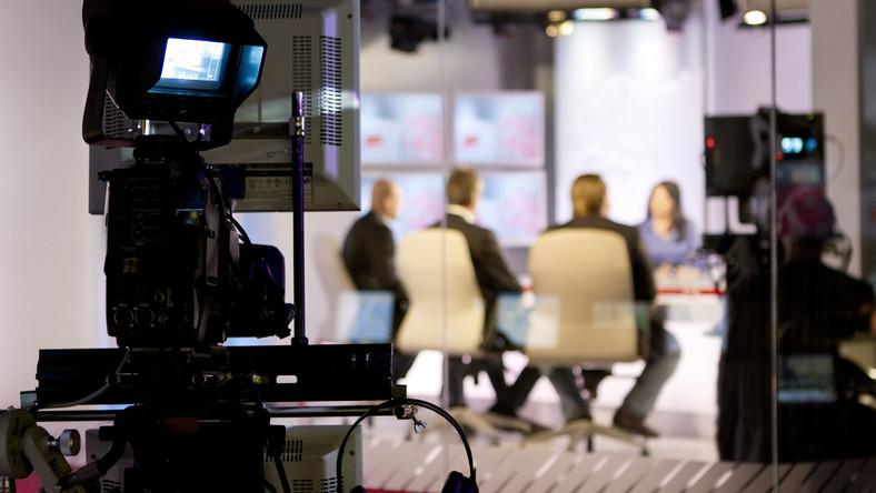 Kamera w studiu telewizyjnym
